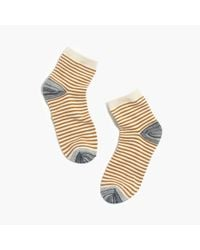 Madewell | Metallic Mini-stripe Ankle Socks | Lyst
