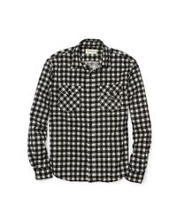 Denim & Supply Ralph Lauren - Black Ward Plaid Cotton Workshirt for Men - Lyst