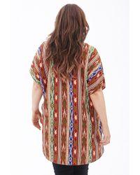 Forever 21 - Multicolor Tribal Print Kimono - Lyst