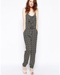 927837e4f152 Lyst - Greylin Felicia Printed Jumpsuit in Black