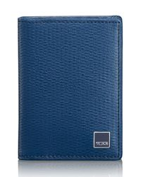 Tumi | Blue 'monaco' Gusseted Leather Card Case for Men | Lyst
