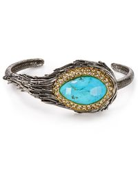 Alexis Bittar | Blue Elements Feathered Turquoise & Crystal Cuff | Lyst