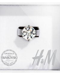 H&M | Metallic Crystal Ring | Lyst