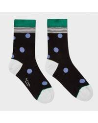 Paul Smith | Women's Black Polka Stripe Socks | Lyst