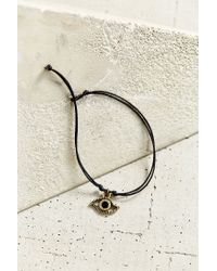 Urban Outfitters - Black Guardian Charm Bracelet - Lyst