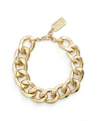 Karine Sultan - Metallic Link Bracelet - Lyst