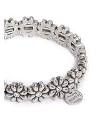 Philippe Audibert - Metallic 'carline' Crystal Flower Elastic Bracelet - Lyst