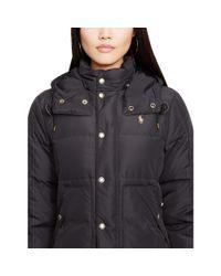 Polo Ralph Lauren | Black Hooded Down Jacket | Lyst