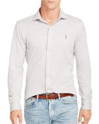 Polo Ralph Lauren | Gray Knit Estate Dress Shirt for Men | Lyst