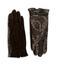 Lauren by Ralph Lauren | Brown Equestrian Touch Gloves | Lyst