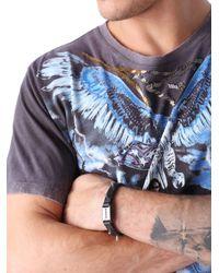 DIESEL | Black Amark Bracelet | Lyst