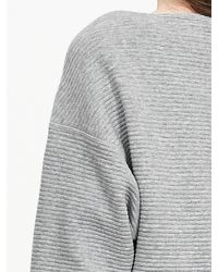 Banana Republic | Gray Ribbed Boatneck Pullover | Lyst