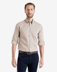 Ted Baker | Brown Soft Oxford Shirt for Men | Lyst