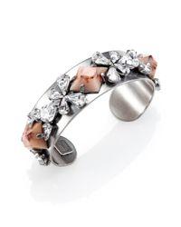 DANNIJO | Metallic Nellie Ii Crystal Cuff Bracelet | Lyst