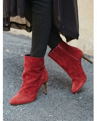 Free People - Red Fairfax Heel Boot - Lyst