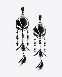 Valentino | Black Dream Catcher Earrings | Lyst