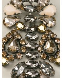 Ermanno Scervino - Metallic Stone Embellished Earrings - Lyst