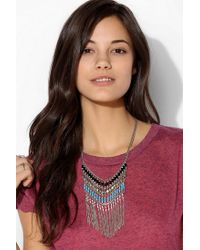 Urban Outfitters - Metallic Nirvana Beaded Bib Necklace - Lyst