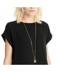 COACH | Multicolor Padlock Long Necklace | Lyst