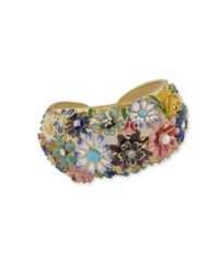 Kenneth Jay Lane | Multicolor Multi Color Flower Cuff | Lyst
