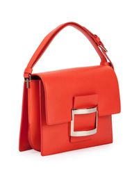 Roger Vivier - Red Icon Carre Mini Napa Shoulder Bag - Lyst