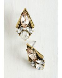 Nova Inc. - White Enamored By Glamour Earrings In Champagne - Lyst
