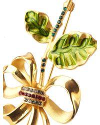 Dolce & Gabbana | Metallic Crystal-embellished Brooch | Lyst