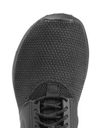 Nike - Leather And Mesh Sneakers - Black - Lyst