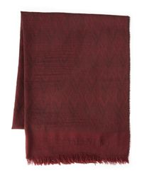 Valentino | Red Logo Scarf for Men | Lyst