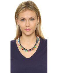 Venessa Arizaga - Blue Treasure Island Necklace - Lyst