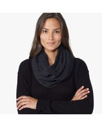 James Perse - Gray Cashmere Infinity Scarf - Lyst