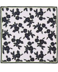 Paul Smith - Purple Black Miami Beach Floral Print Silk Scarf - Lyst