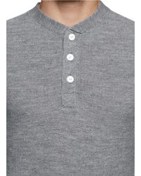 Rag & Bone - 'grayson' Merino Wool Henley Sweater for Men - Lyst