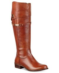 Tommy Hilfiger | Brown Delphy Riding Boots | Lyst