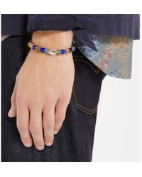 Luis Morais - Blue White Gold And Bead Bracelet for Men - Lyst