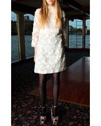 Giamba   White Broderie Anglaise Dress   Lyst