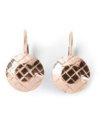 Bottega Veneta | Metallic Intrecciato Earring | Lyst