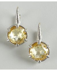 Judith Ripka - Metallic Sterling Silver and Canary Crystal Eclipse Earrings - Lyst