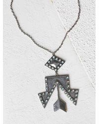 Free People - Metallic 2bandits Womens Rhinestone Cowgirl Pendant - Lyst
