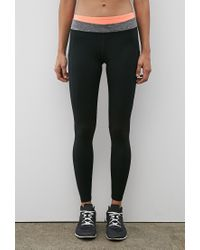 Forever 21 | Black Active Colorblock Yoga Leggings You've Been Added To The Waitlist | Lyst