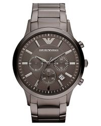 Emporio Armani | Gray Stainless Steel Bracelet Watch for Men | Lyst