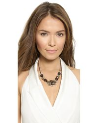 Alexis Bittar - Metallic Spur Trimmed Bib Necklace - Ruthenium/gold - Lyst