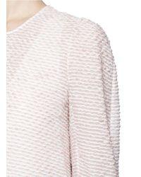 Chloé | Pink Sheer Dash Knit Ruffle Dress | Lyst