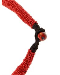 Muzungu Sisters | Red Beaded Coin Necklace | Lyst