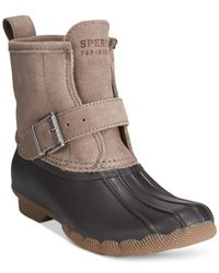Sperry Top-Sider | Black Rip Water Duck Booties | Lyst