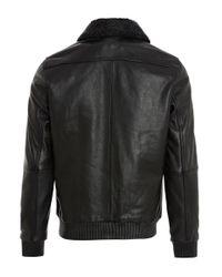 Nudie Jeans - Black Tjalle Leather Jacket for Men - Lyst