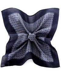 BOSS - Gray Polka Dot Wool Pocket Square for Men - Lyst