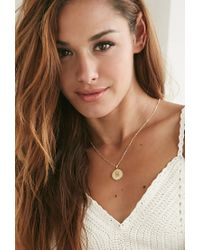 Forever 21 - Metallic Moon And Lola Small Dalton M Necklace - Lyst
