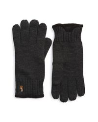 Polo Ralph Lauren - Gray Merino Wool Gloves for Men - Lyst