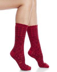 Smartwool - Red Pika Puff Socks - Lyst